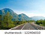 Autobahn In Austrian Alps Near...