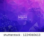 abstract low poly purple... | Shutterstock .eps vector #1224060613