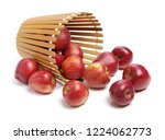 red apples isolated on white... | Shutterstock . vector #1224062773