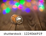 happy new year 2019 cork on the ...   Shutterstock . vector #1224066919