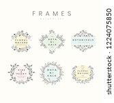 set of botanical frame design...   Shutterstock .eps vector #1224075850