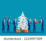 merry christmas party. concept... | Shutterstock .eps vector #1224097309