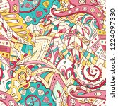 tracery seamless pattern.... | Shutterstock .eps vector #1224097330