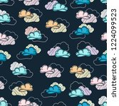 cloud pattern for fabric and... | Shutterstock .eps vector #1224099523