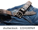 blue jeans with rock style... | Shutterstock . vector #1224100969