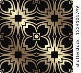 art deco seamless vintage... | Shutterstock .eps vector #1224101749