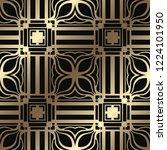 art deco seamless vintage... | Shutterstock .eps vector #1224101950