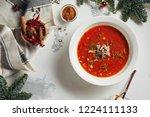 beautiful vintage new year...   Shutterstock . vector #1224111133