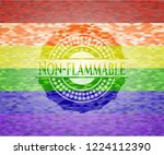 non flammable lgbt colors... | Shutterstock .eps vector #1224112390