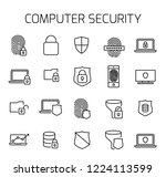 computer security related... | Shutterstock .eps vector #1224113599
