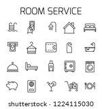 room service related vector... | Shutterstock .eps vector #1224115030