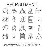 recruitment related vector icon ... | Shutterstock .eps vector #1224116416