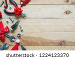 merry christmas and happy new... | Shutterstock . vector #1224123370