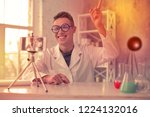 young chemist. young chemist... | Shutterstock . vector #1224132016