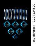 set of beautiful blue sapphires ... | Shutterstock . vector #1224134620