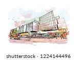 building view with landmark of... | Shutterstock .eps vector #1224144496