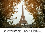 view of eiffel tower in autumn... | Shutterstock . vector #1224144880