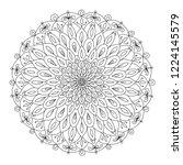 mandala ornament  colorful... | Shutterstock .eps vector #1224145579