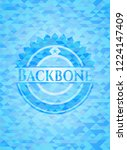 backbone sky blue emblem with... | Shutterstock .eps vector #1224147409