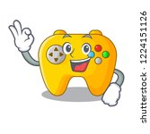 okay video game controller... | Shutterstock .eps vector #1224151126