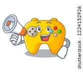 with megaphone modern game... | Shutterstock .eps vector #1224152926