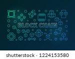 block chain vector colored...   Shutterstock .eps vector #1224153580