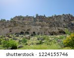 cave town and rock formations... | Shutterstock . vector #1224155746