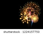 collection of firework and... | Shutterstock .eps vector #1224157753