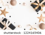 christmas composition. gifts ... | Shutterstock . vector #1224165406