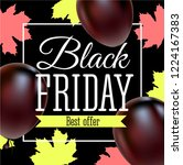 black friday sale poster with...   Shutterstock .eps vector #1224167383