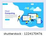 modern flat design concept of... | Shutterstock .eps vector #1224170476