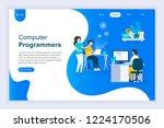 modern flat design concept of... | Shutterstock .eps vector #1224170506