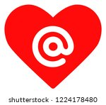 dating heart address icon on a... | Shutterstock .eps vector #1224178480