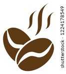 coffee beans aroma icon on a... | Shutterstock .eps vector #1224178549