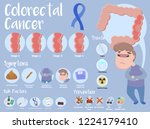 colorectal cancer infographic | Shutterstock .eps vector #1224179410