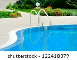 swimming pool with stair at... | Shutterstock . vector #122418379