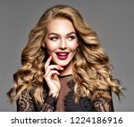 young cheerful happy woman.... | Shutterstock . vector #1224186916
