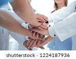 group of doctors with their... | Shutterstock . vector #1224187936