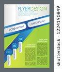 modern corporate flyer template ... | Shutterstock .eps vector #1224190849