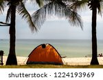 tent on the beach at batan... | Shutterstock . vector #1224193969