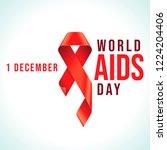awareness red ribbon   symbol...   Shutterstock .eps vector #1224204406