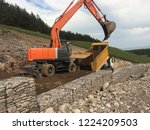 backfilling of gabion walls | Shutterstock . vector #1224209503
