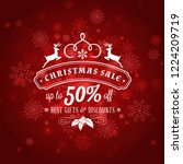 christmas sale poster design.... | Shutterstock .eps vector #1224209719