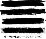 grunge paint roller . vector... | Shutterstock .eps vector #1224212056