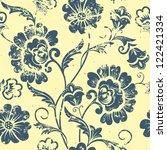 Vector Vintage Floral Seamless...