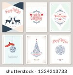 elegant vertical winter... | Shutterstock .eps vector #1224213733