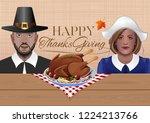 thanksgiving design. greeting... | Shutterstock .eps vector #1224213766