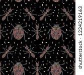 festive bright vector seamless... | Shutterstock .eps vector #1224219163