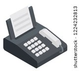 a fax machine with printing... | Shutterstock .eps vector #1224232813
