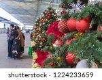 christmas decoration in airport.... | Shutterstock . vector #1224233659